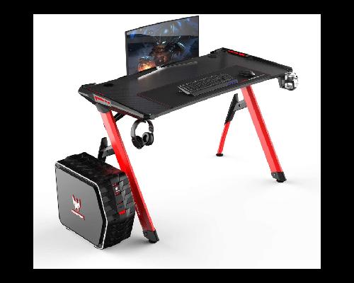 SogesHome Gaming Tisch Gaming Schreibtisch 120 x 60 cm mit LED